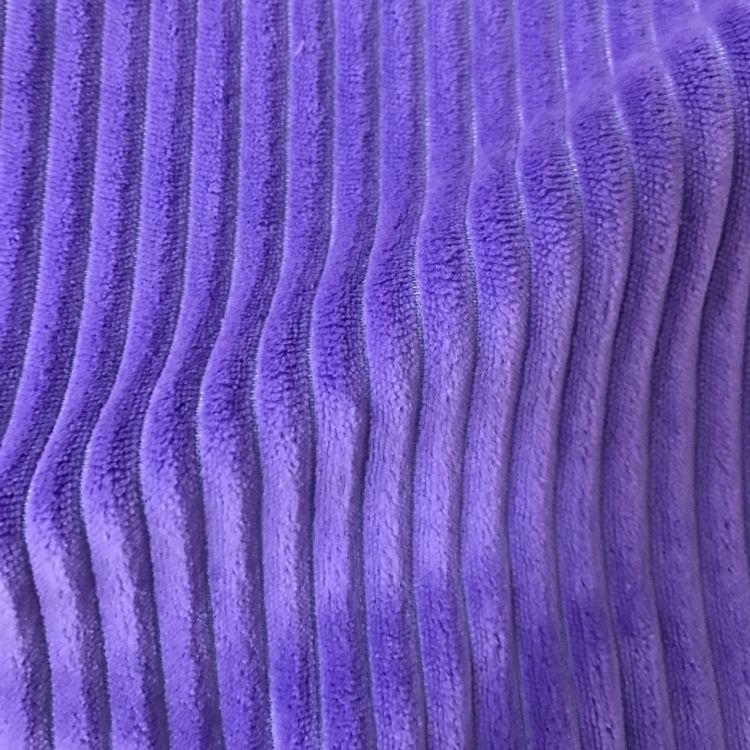 常熟美域高纺织 单面染色竖条法兰绒地毯布 抽条法兰绒面料沙发布