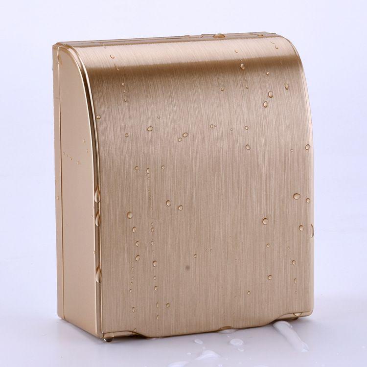 86型通用 开关插座 面板 香槟金色 防水盒 防溅盒