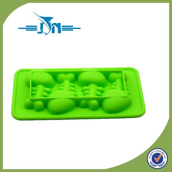 厂家直销 硅胶冰格 食品级4连鱼形鱼骨头冰格 学厨硅胶模具