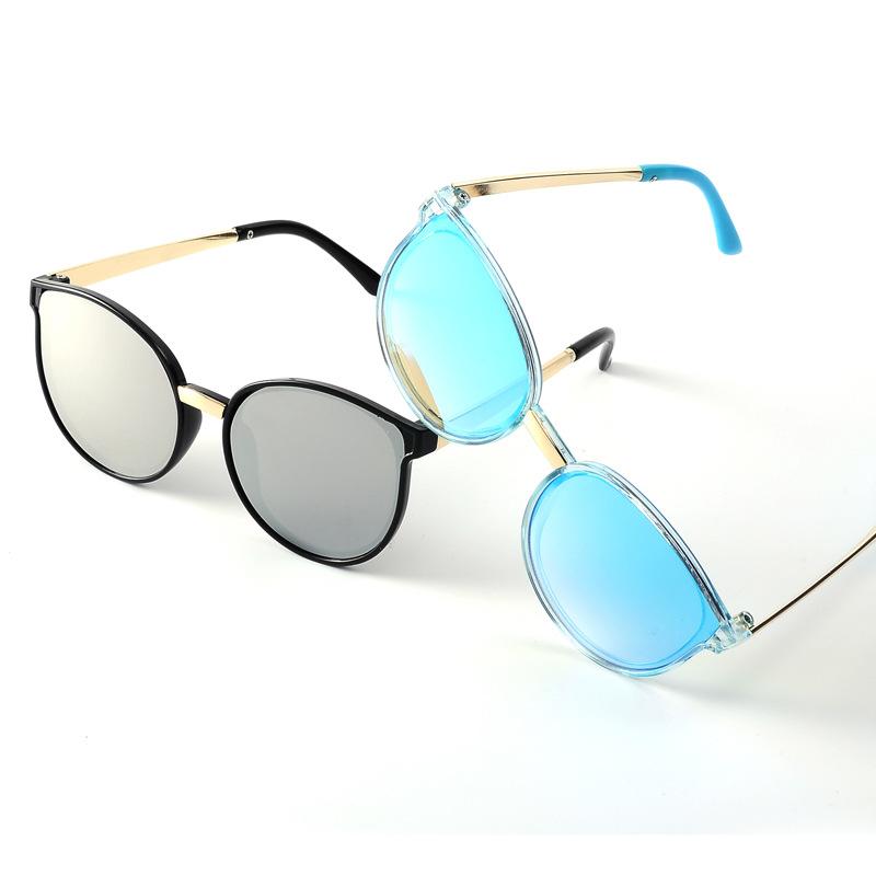 新款真膜儿童款太阳镜批发猫眼框太阳眼镜时尚潮流TR90儿童墨镜