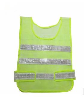 优反光衣荧光绿色马甲 无袖背心防护 施工路交通环卫保护