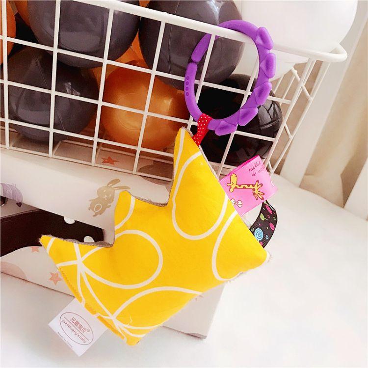 跨境 婴儿摇铃床铃新生儿0-3-6个月床挂推车毛绒玩具益智玩具