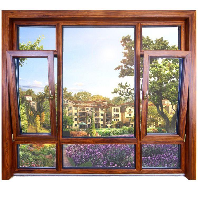 铝合金窗佛山厂家直销断桥窗 120断桥窗纱一体平开窗 双色纱窗一体