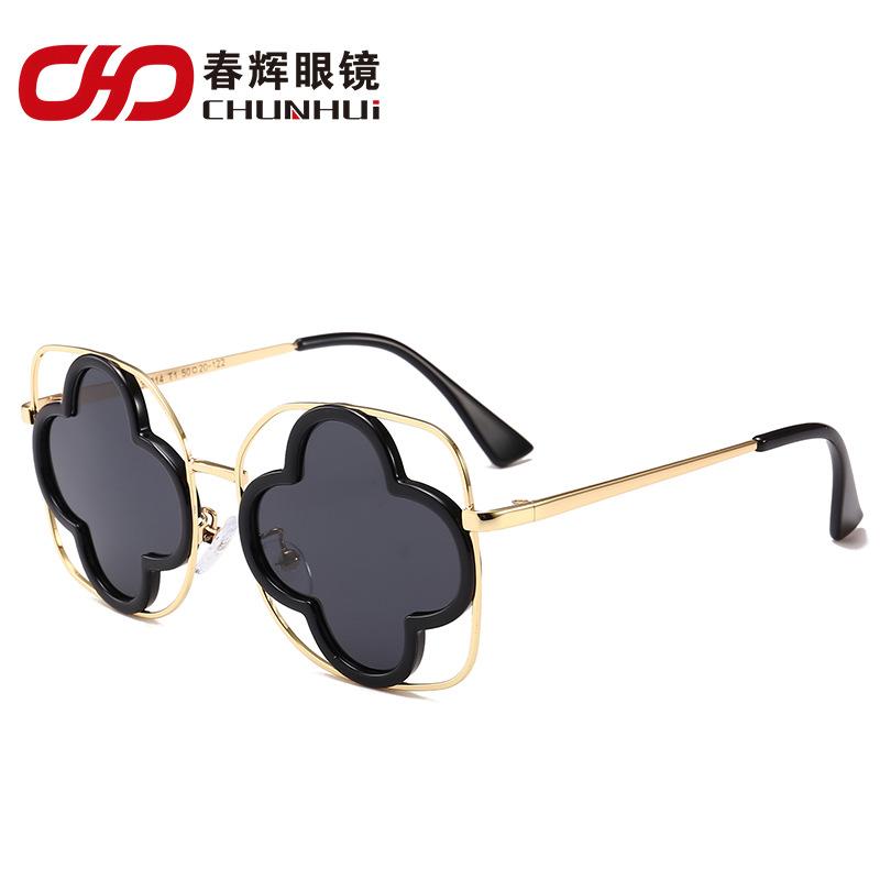厂家直销2018新款潮酷儿童偏光太阳镜 圆框时尚炫彩遮阳墨镜33914