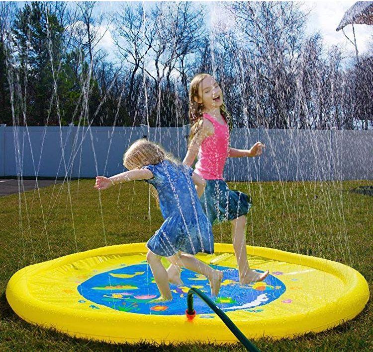 厂家现货直供PVC充气喷水垫草地喷水游戏垫儿童充气戏水垫