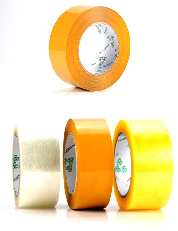 现货批发打包带透明胶带快递包裹包装透明胶封口宽45mm厚25mmBopp
