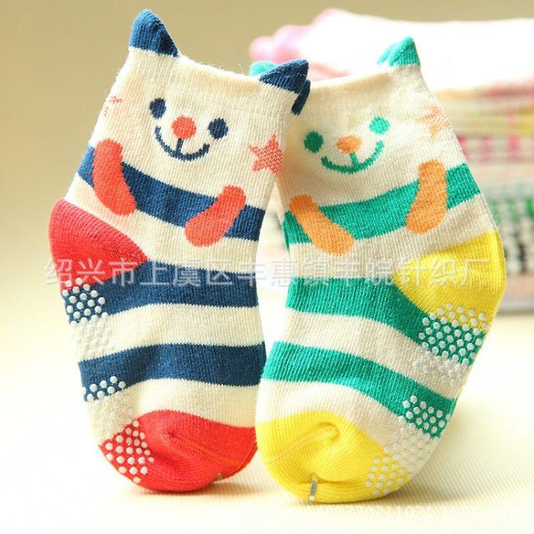 春季新款童袜 条纹纯棉中筒袜 全棉儿童袜子宝宝袜子工厂批发