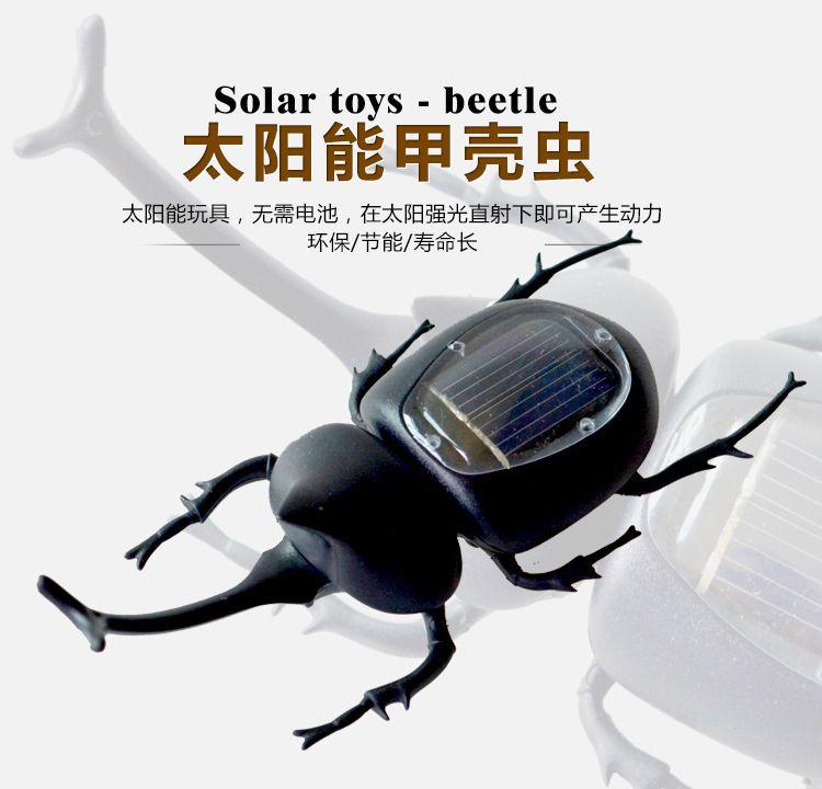 太阳能甲虫玩具 屎壳郎 创意礼品 趣味益智玩具 科教启蒙 现货