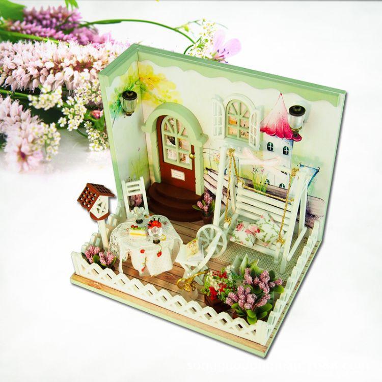 创意手工diy小屋(J007)秘密花园礼盒玩具建筑模型情侣礼物现批