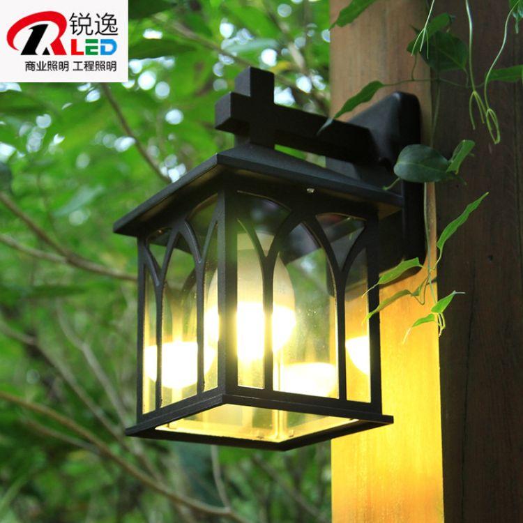 欧式复古创意现代壁灯防水室外别墅壁灯 户外走廊阳台园林庭院灯