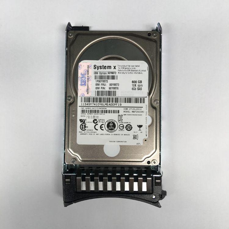 原装 IBM 90Y8873 90Y8876 600G 10K 2.5 SAS 6Gb 服务器硬盘