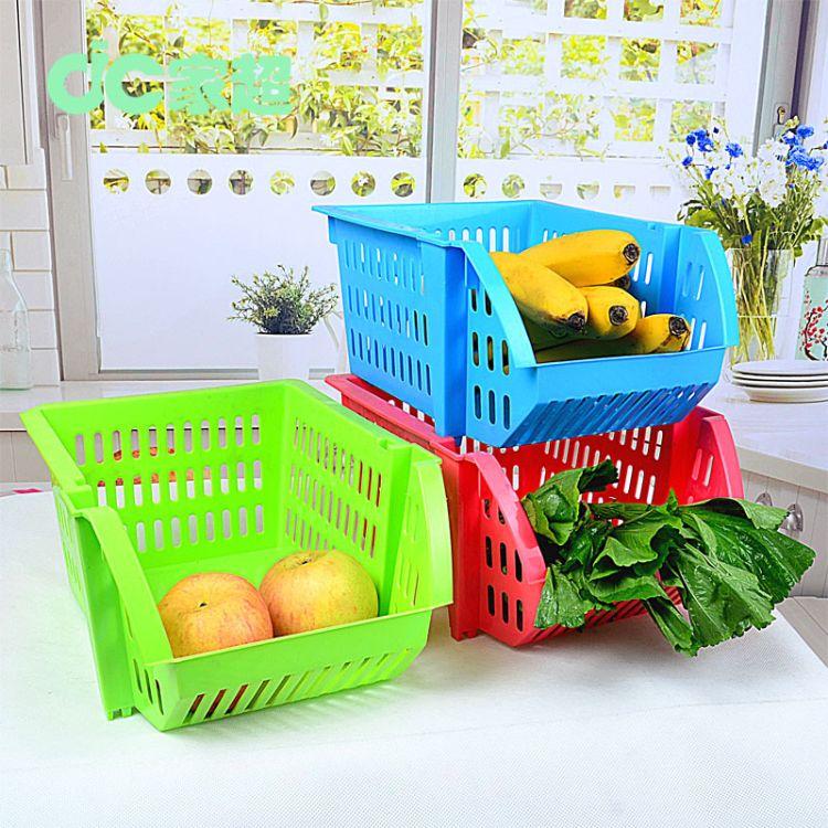 家超多功能可叠加厨房果蔬放置篮家居杂物收纳篮蔬菜篮水果篮