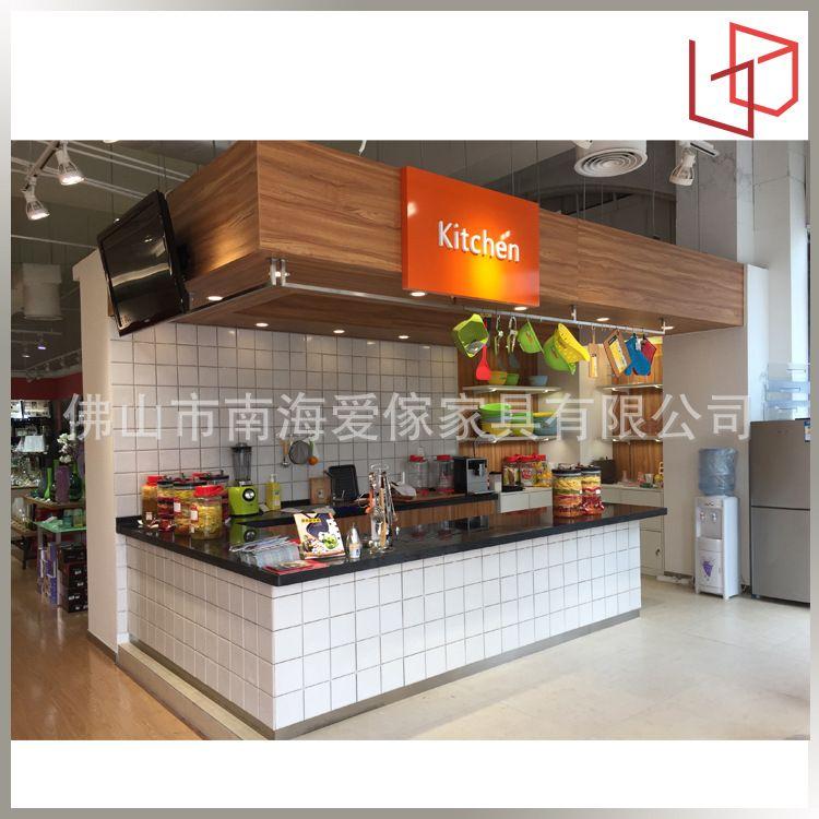 厂家直供大理石吧台 可定制开放式厨房吧台 设乡味展台厨房操作台