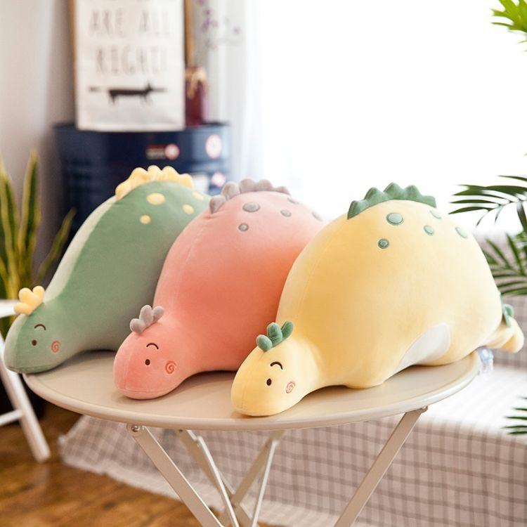 可爱泡泡龙毛绒玩具公仔软体小恐龙宝宝睡觉抱枕陪睡玩偶娃娃女孩