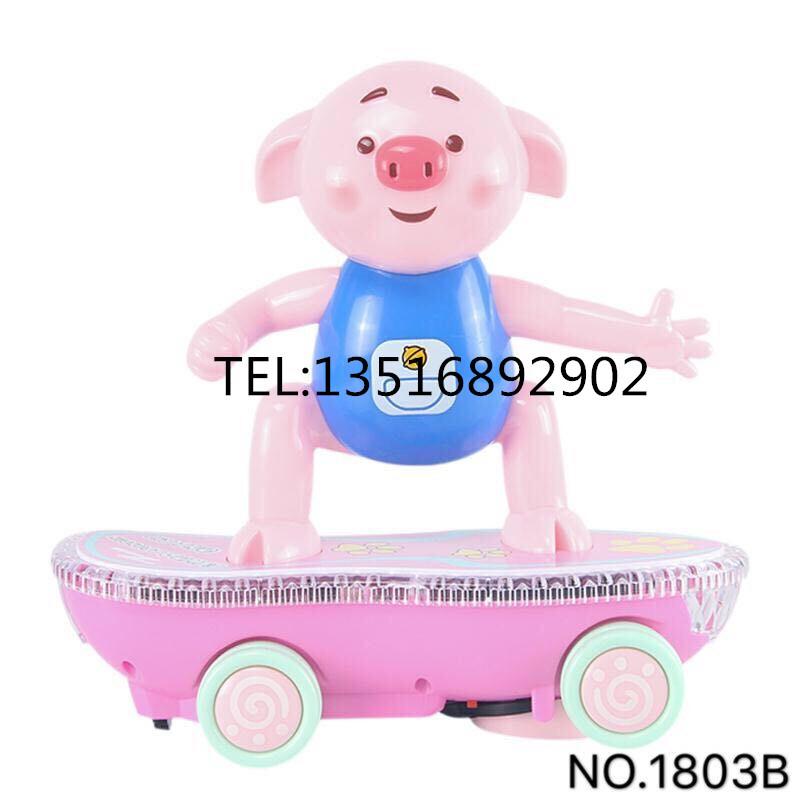 热卖ABC原料儿童音乐灯光塑料滑板车