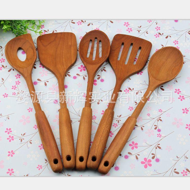 樱桃木 木勺 木餐具 厨房工具套装 可定制LOGO 天然环保实木