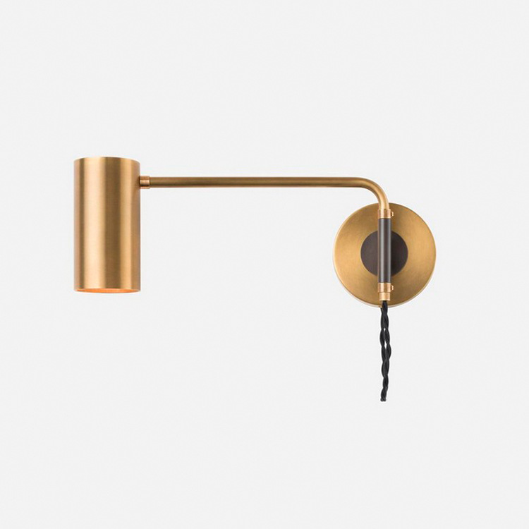 北欧后现代简约创意卧室床头过道走廊客厅别墅铝管设计师金属壁灯