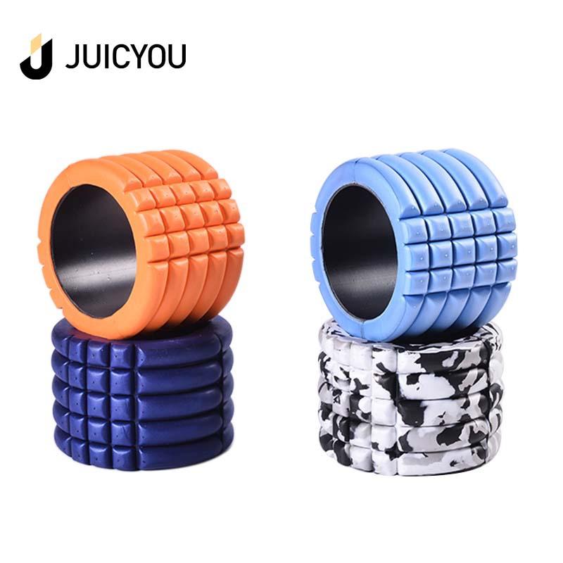 迷你空心瑜伽柱普拉提肌肉放松按摩伸展运动泡沫轴平衡柱14*10cm