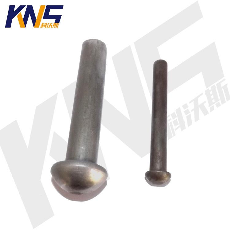 厂家供应半圆头铁铆钉 实心铁铆钉 蘑菇头铆钉 定制非标铆钉