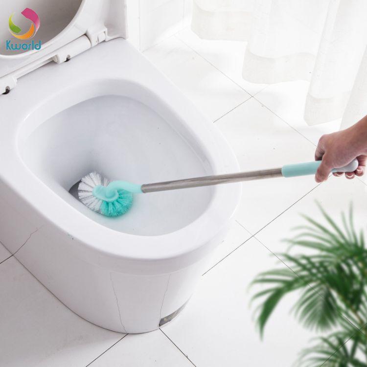 建君加长不锈钢马桶刷卫生间清洁刷家用洗厕所刷子长柄洁厕去死角