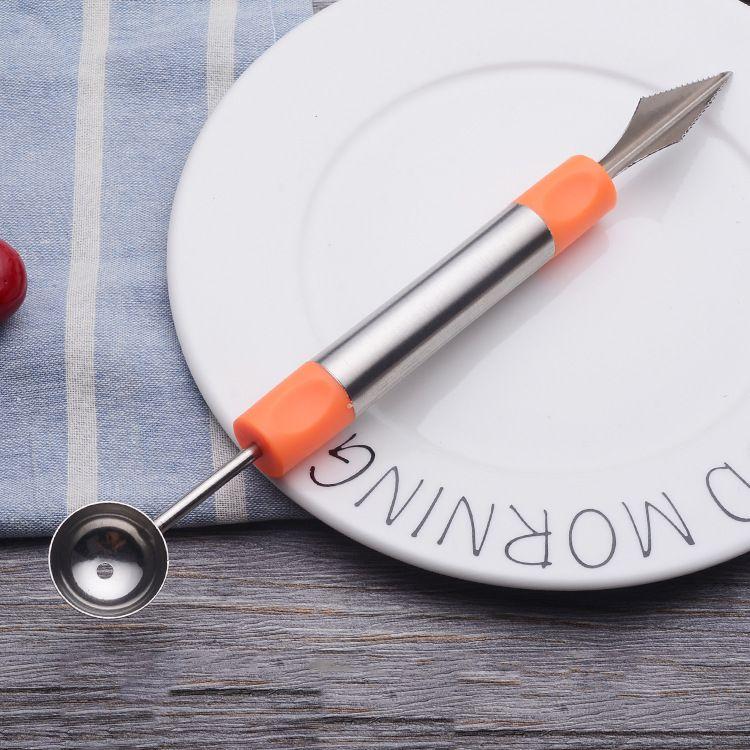 意佳豪 无磁不锈钢水果挖勺刀 居家切水果实用创意小勺 挖勺器