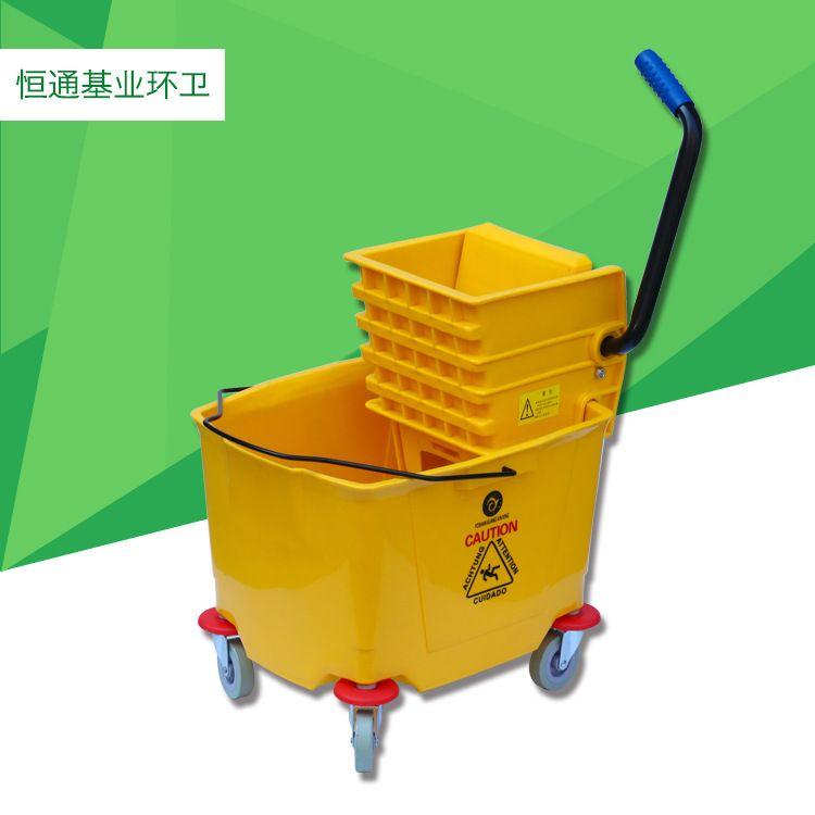 厂家批发拖把榨水桶轻便型单桶榨水桶 环卫工作桶 卫生工具