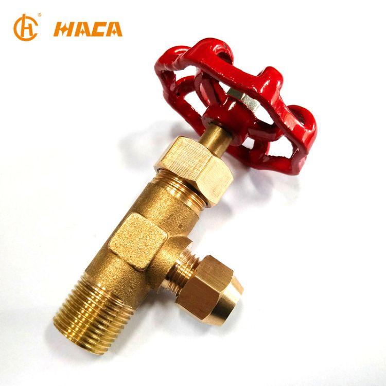 厂家直销 淘宝热销 3分 4分 8mm 10mm 铜杆 外丝扩口针阀 油阀
