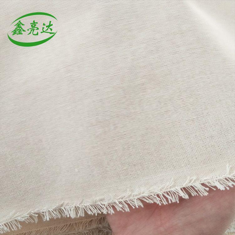 厂家批发 涤棉老粗布 复合中层千层鞋料布 加厚原色粗纱帆布