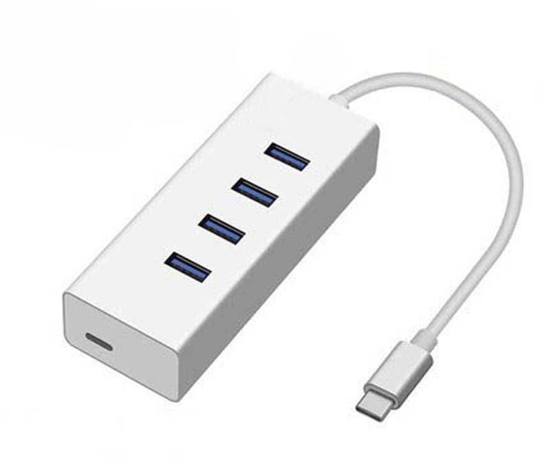 立得联macbook pro转接头type-c网线转换器 雷电3转千兆网口 HUB