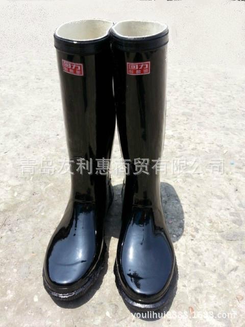 正品上海回力牌高统耐酸碱胶靴 高统、半统工矿雨靴批发