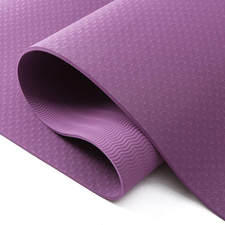 瑜伽垫单色183*80cm厚6mm现货批发tpe天然橡胶垫瑜珈垫厂家直销