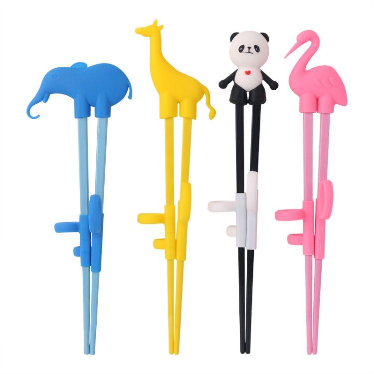 儿童筷子 儿童练习筷 宝宝训练筷 动物四件套指套学习筷