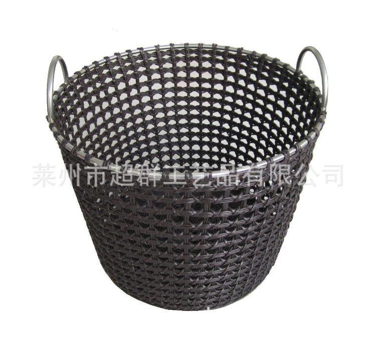Qsbaba 巧手爸爸手工编织塑料镂空储物筐置衣篮玩具筐编织筐