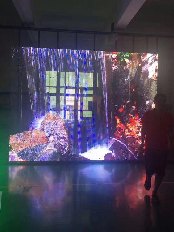 室内透明led显示屏 橱窗广告玻璃屏透光率好PH7.82幕墙led透明屏