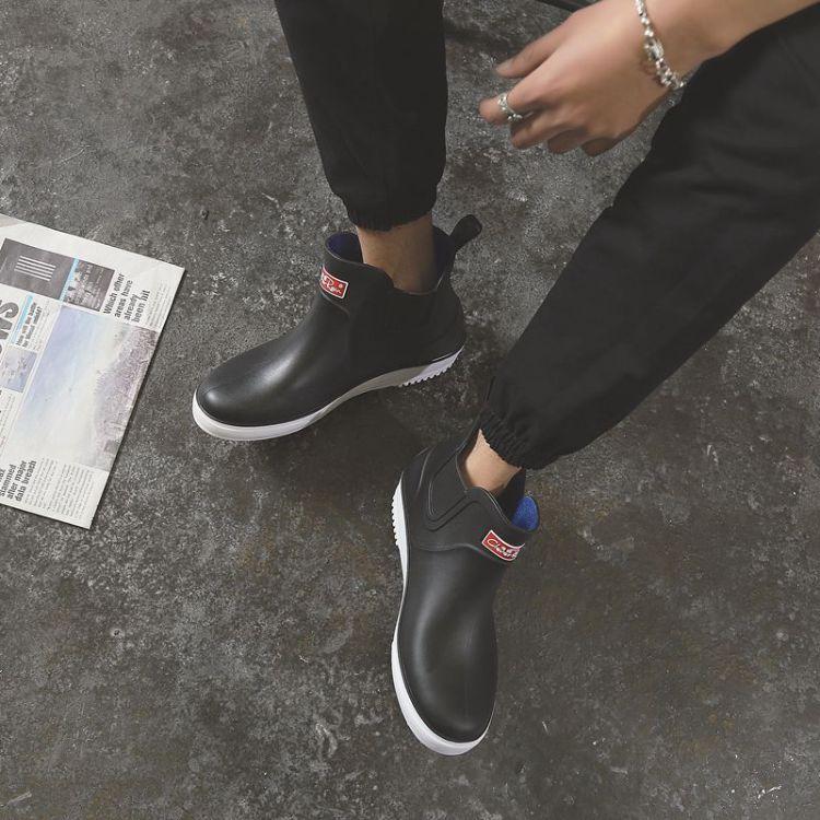 雨鞋男四季晴雨时尚短筒厨师防滑雨靴成人防水鞋套鞋厨房工作胶鞋