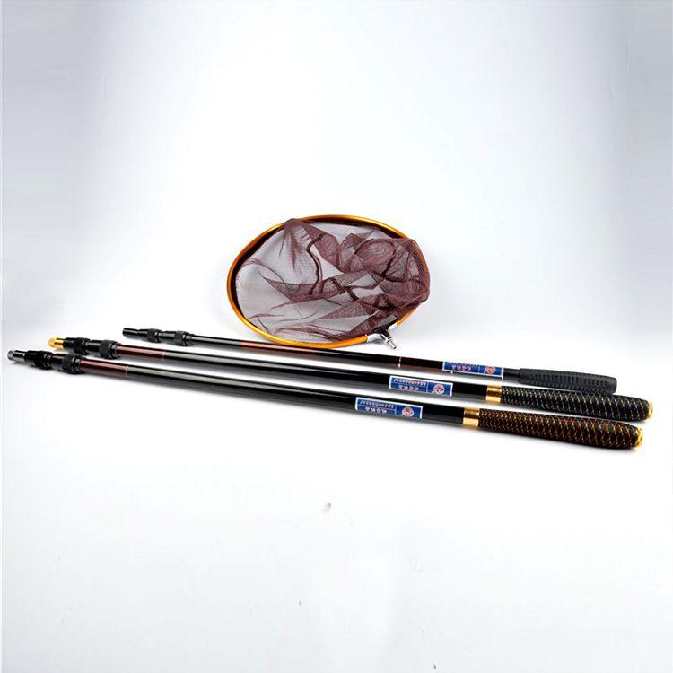 供应碳素抄网杆竿捞鱼网兜抄子渔具用品配件用品钓鱼抄网杆批发