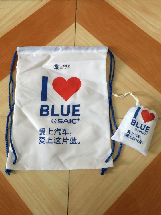 2017年新品促销涤纶束口袋 可折叠210d束口拉绳涤纶袋 可印logo