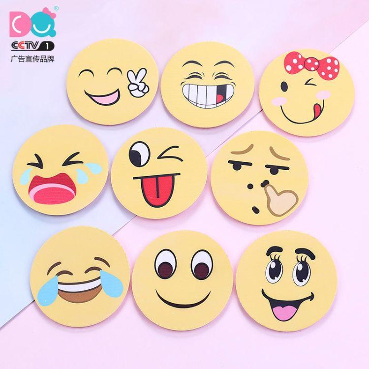 丹青饰品创意款韩版儿童魔术贴 表情文字刺绣刘海发帖厂家直销