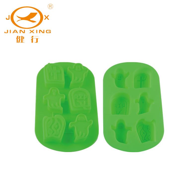 绿色硅胶冰格模具 节日产品JX-W007 硅胶厨具用品 厂家直销 批发