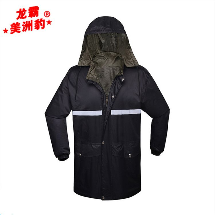 批发龙霸/豹霸美洲豹雨衣 双面穿带反光条雨衣套装 防水雨衣套装