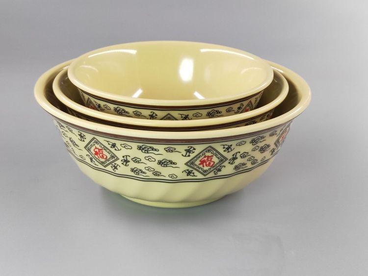 厂家直销A5仿瓷密胺歺具外斜螺纹碗碗歺具面粉仿瓷密胺歺具