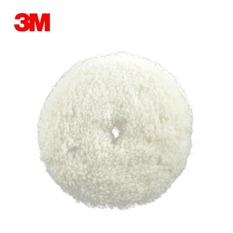 正品原装3M6018白色9寸双面羊毛球 汽车/家具油漆面抛光羊毛轮