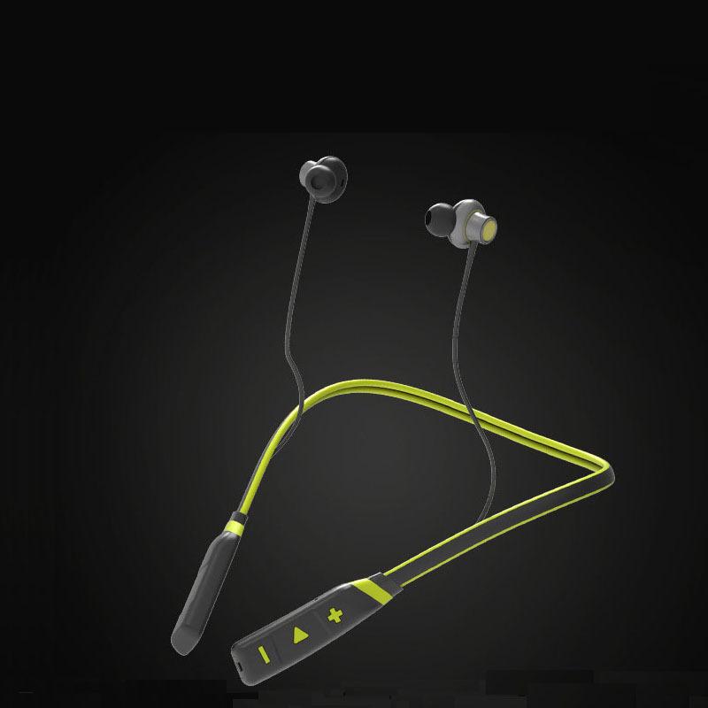 AI智能蓝牙耳机 语音识别防水挂脖式无线运动蓝牙耳机工厂批发