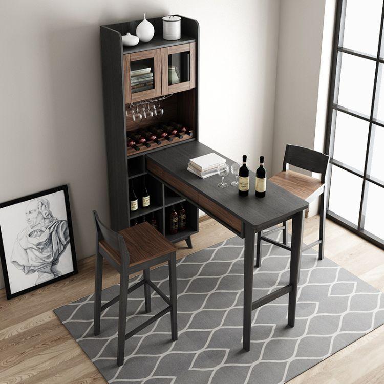 北欧简约吧台隔断柜现代伸缩吧台桌小客厅靠墙装饰家用屏风厅酒柜