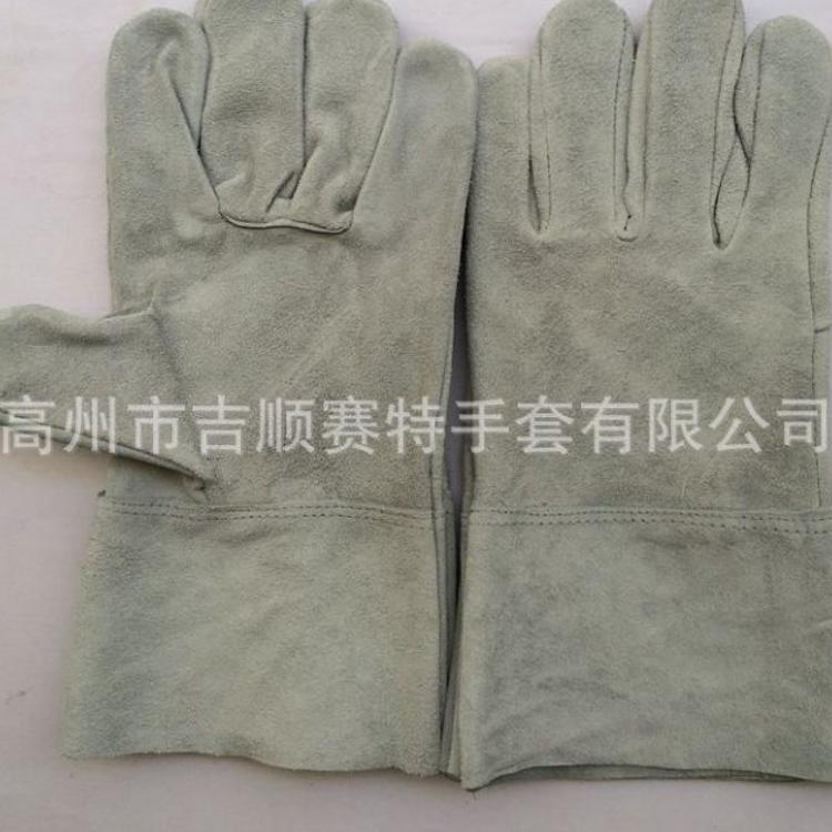 【吉顺赛特】厂价供应真皮焊工劳保手套 防护隔热 皮革手套