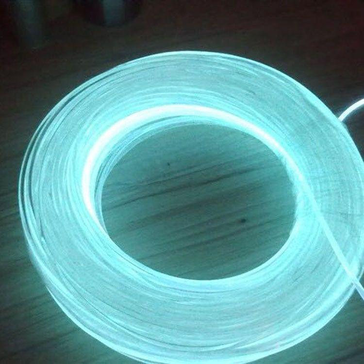 厂家直销实心3.0MM通体侧光光纤泳池照明户外实心光纤外墙轮阔LED