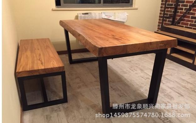 定做榆木大板家具 台面板 工作写字台 装饰板 简约现代