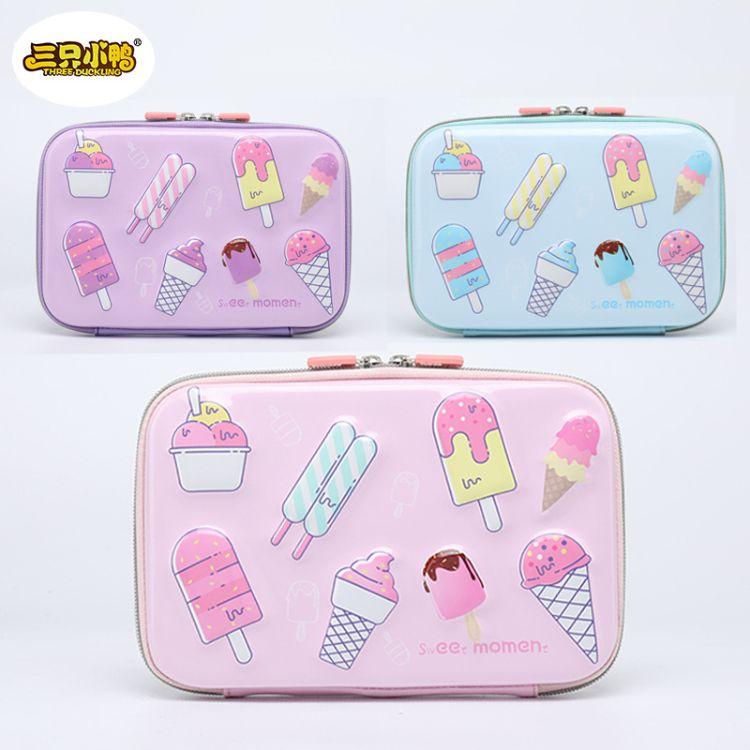 厂家直销新款EVA文具盒小学生文具袋笔盒大容量多功能3D卡通笔袋