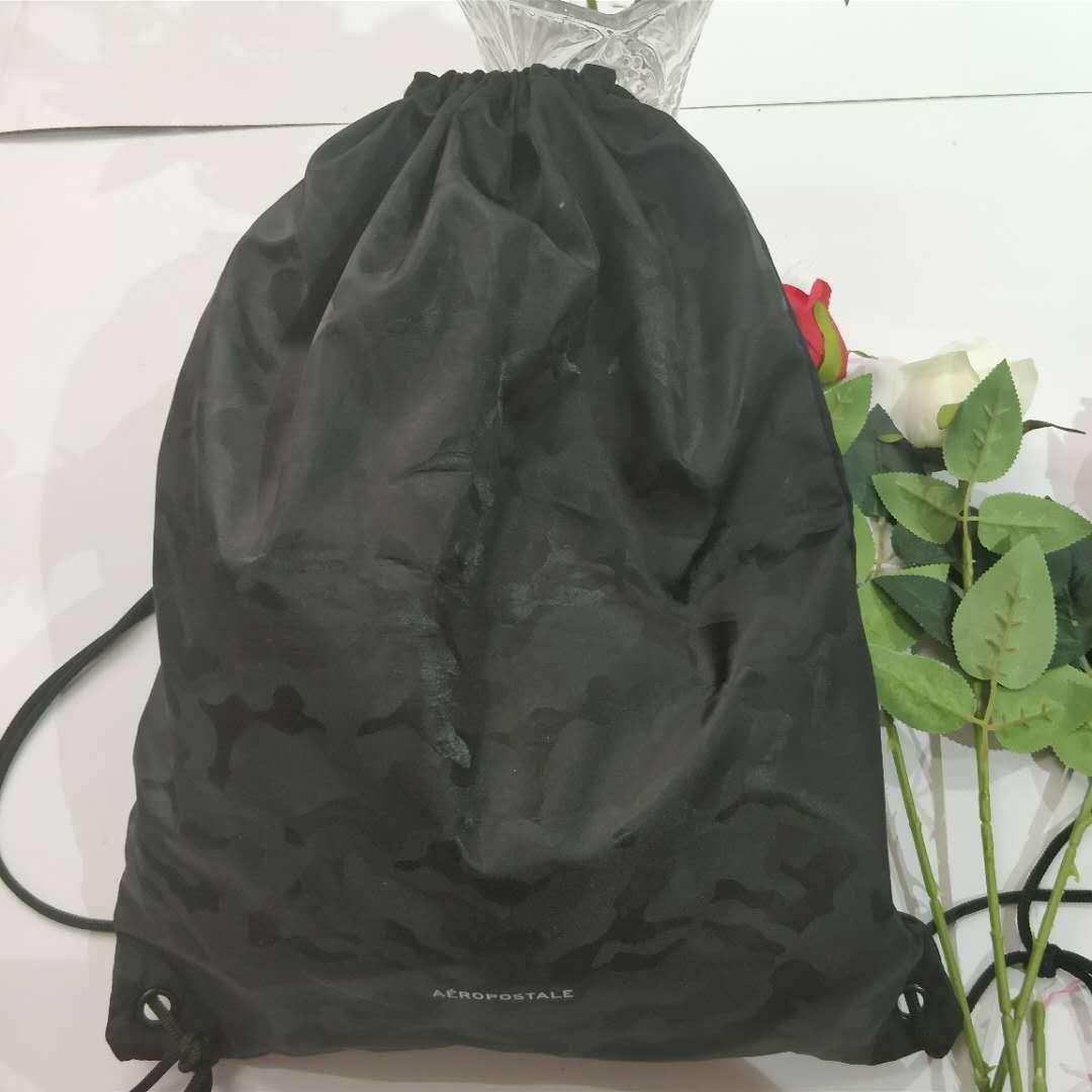 尼龙拉绳背包 牛津布束口包 广州厂家定制logo 防水运动背包