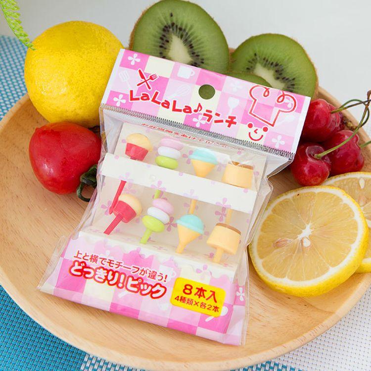批发日本原单 儿童动物水果叉 卡通塑料签 环保树脂叉子水果牙签